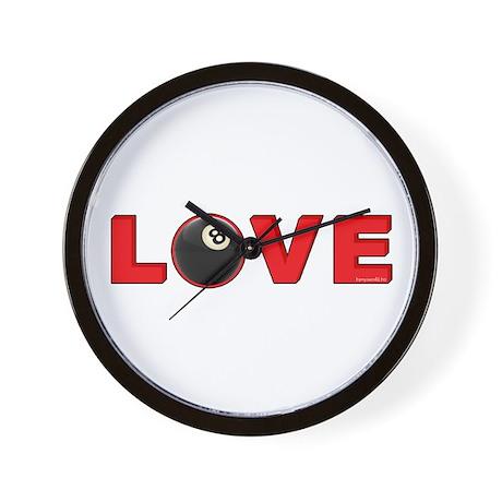 Billiard Love 3 Wall Clock