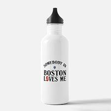 Somebody In Boston Water Bottle