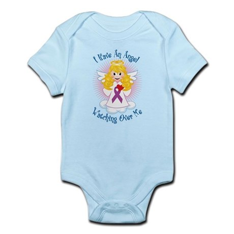Angel Watching Purple Ribbon Infant Bodysuit