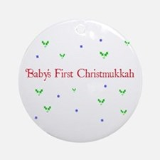 Babys First Christmukkah Ornament (Round)