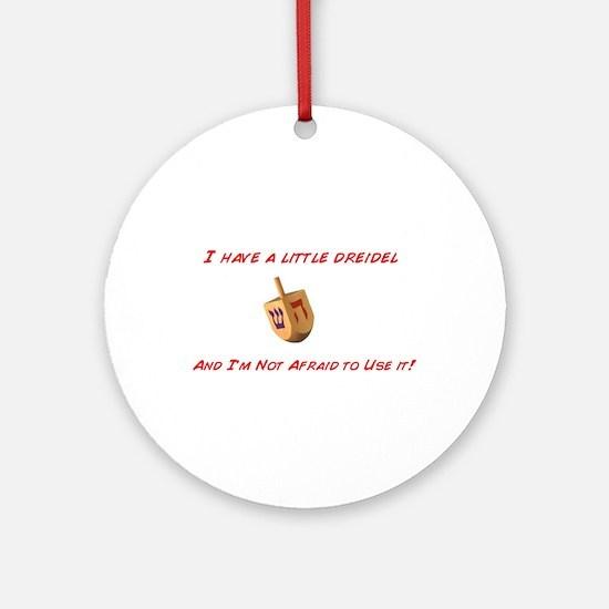 Dreidel Chrismukkah Ornament (Round)