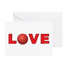 Dodgeball Love 3 Greeting Cards (Pk of 10)