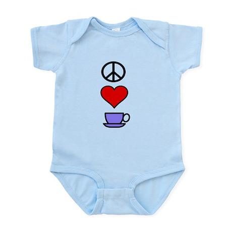 Peace Love Coffee 2 Infant Bodysuit