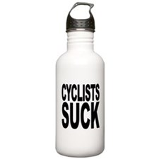 Cyclists Suck Water Bottle