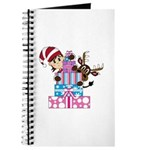 Cute Elf with Reindeer and Christmas Gifts Journal