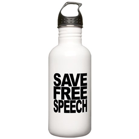 Save Free Speech Stainless Water Bottle 1.0L