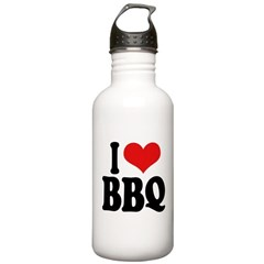 I Love BBQ Water Bottle