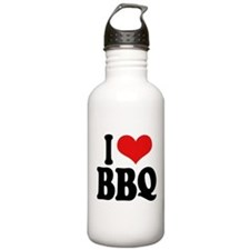 I Love BBQ Water Bottle