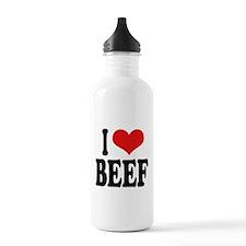 I Love Beef Water Bottle