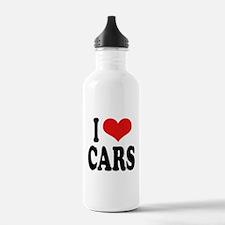 I Love Cars Water Bottle