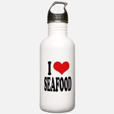 I Love Seafood Water Bottle