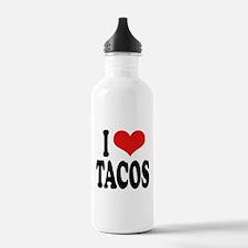 I Love Tacos Water Bottle