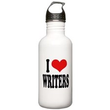 I Love Writers Water Bottle