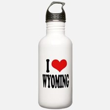 I Love Wyoming Water Bottle