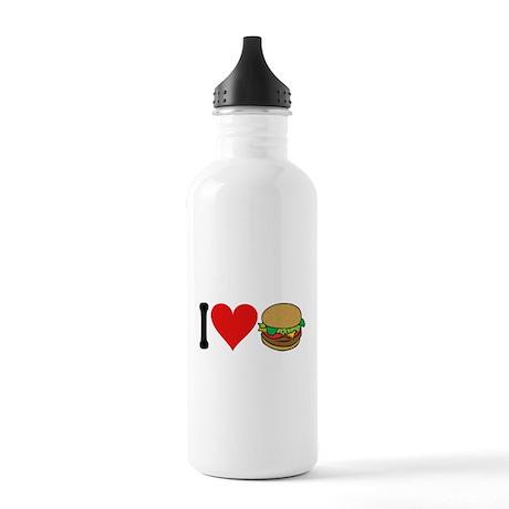 I Love Hamburgers (design) Stainless Water Bottle