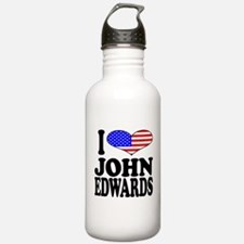 I Love John Edwards Water Bottle