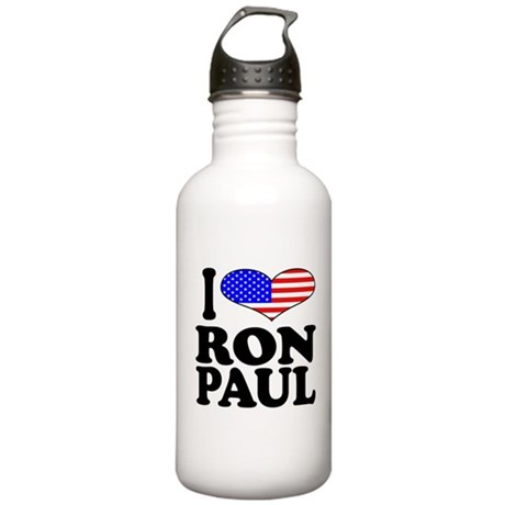 I Love Ron Paul Stainless Water Bottle 1.0L