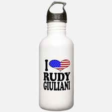 I Love Rudy Giuliani Water Bottle