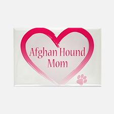 Afghan Pink Heart Rectangle Magnet
