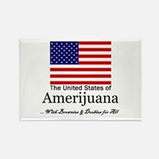 Amerijuana Rectangle Magnet