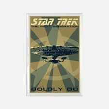 Retro Star Trek: TNG Poster Rectangle Magnet
