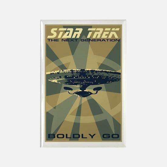 Retro Star Trek: TNG Poster Rectangle Magnet