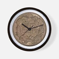 Flying Eagle Reverse Wall Clock