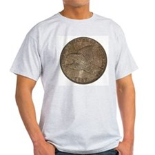 Flying Eagle Double-Sided Ash Grey T-Shirt