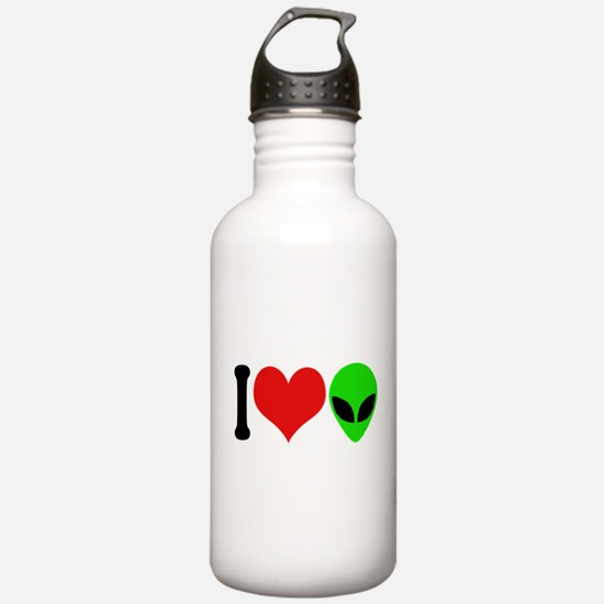 I Love Aliens Water Bottle
