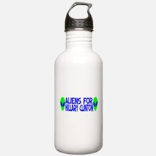 Aliens For Hillary Clinton Water Bottle