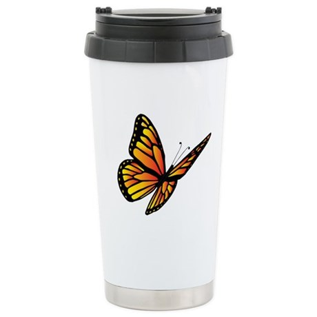 Butterfly Monarch Stainless Steel Travel Mug