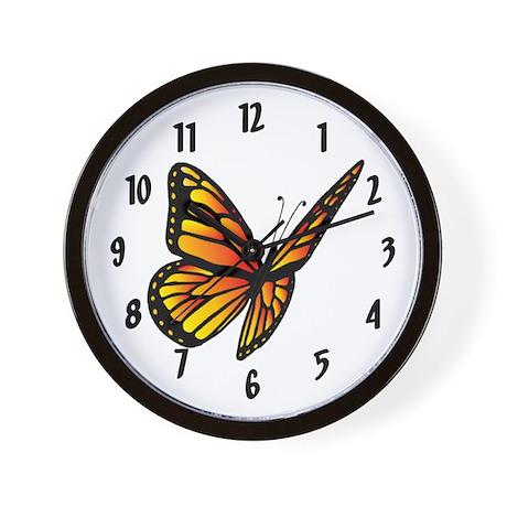 Butterfly Monarch Wall Clock 10inch
