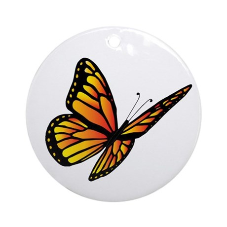 Butterfly Monarch Ornament (Round)