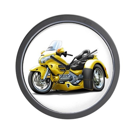 Goldwing Yellow Trike Wall Clock