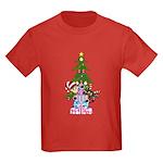 Elf and Reindeer Christmas Kids Dark T-Shirt