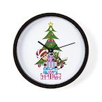 Christmas Elf and Reindeer Wall Clock
