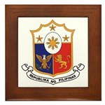 Philippines Coat of Arms Framed Tile