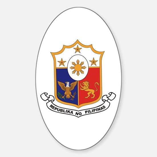 Philippines Coat of Arms Oval Decal