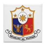 Philippines Coat of Arms Tile Coaster