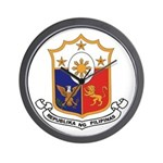 Philippines Coat of Arms Wall Clock