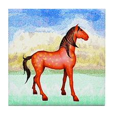 Spanish Mustang Tile Coaster