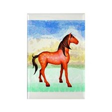 Spanish Mustang Rectangle Magnet