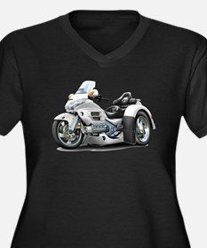 Goldwing White Trike Women's Plus Size V-Neck Dark