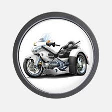 Goldwing White Trike Wall Clock
