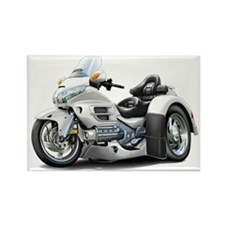 Goldwing White Trike Rectangle Magnet