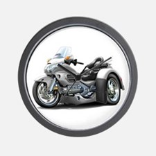 Goldwing Silver Trike Wall Clock