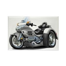Goldwing Silver Trike Rectangle Magnet