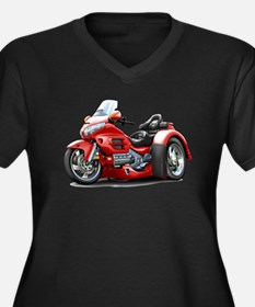 Goldwing Red Trike Women's Plus Size V-Neck Dark T