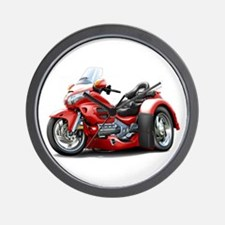 Goldwing Red Trike Wall Clock