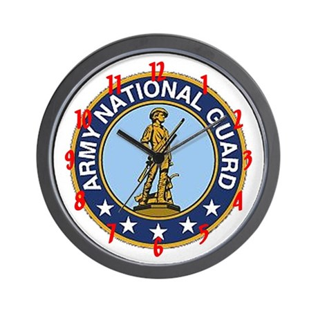 """""""Army National Guard"""" Wall Clock"""
